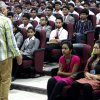 Mr. Dinesh Nathani interacting with the students