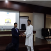 Prof. Dr. Ramchandra Pawar, Head, Research Centre felicitating Mr. Chaudhary