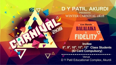 The Winter Carnival-2k18 by D.Y.Patil Akurdi, Pune.