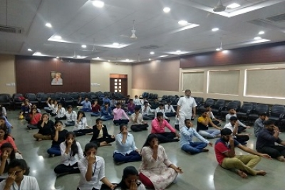 Yoga session for First Year MCA Students